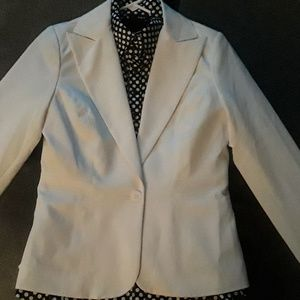 """Maurices"" Single-Breasted White Blazer"